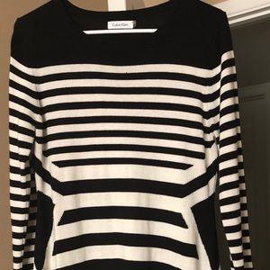 Striped Sweater Dress-Calvin Klein